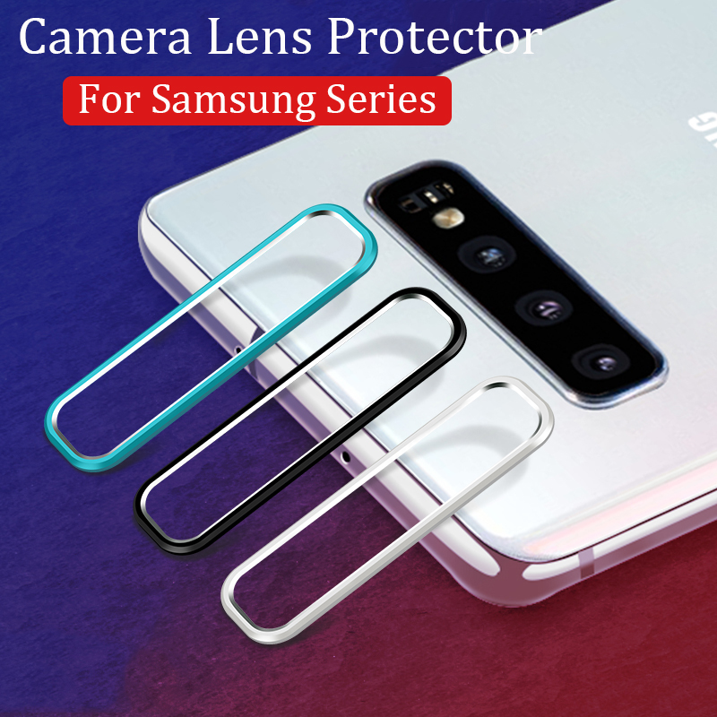 Camera Protector Glass On For Samsung Galaxy S10 Plus S10E Note 10 Tempered Glass Metal Camera Lens Protective Ring Cover Case