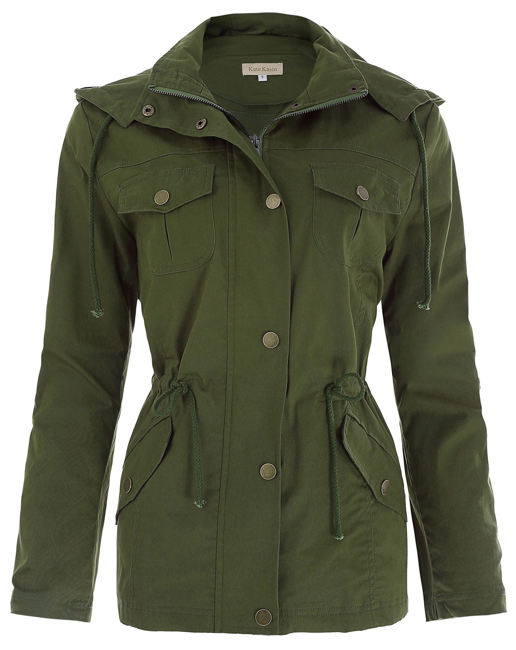 Outerwear Womens Jacket Military Safari Cotton Hooded Jacket   Coat   Tops