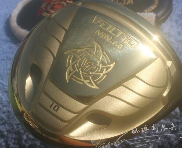 New Golf Clubs KATANA VOLTIO NINJA Golf Driver club Golde color Graphite Golf shaft Driver headcover