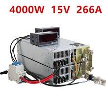 4000W 15V Power Supply 0-15V Adjustable Power 15VDC AC-DC 0-5V Analog Signal Control SE-4000-15 Power Transformer 15V 266A