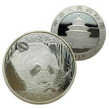 Chinese Big Panda Baobao Commemorative Coins Silver Plated Metal Coin Collection Art Gift Dropping Shipping(China)
