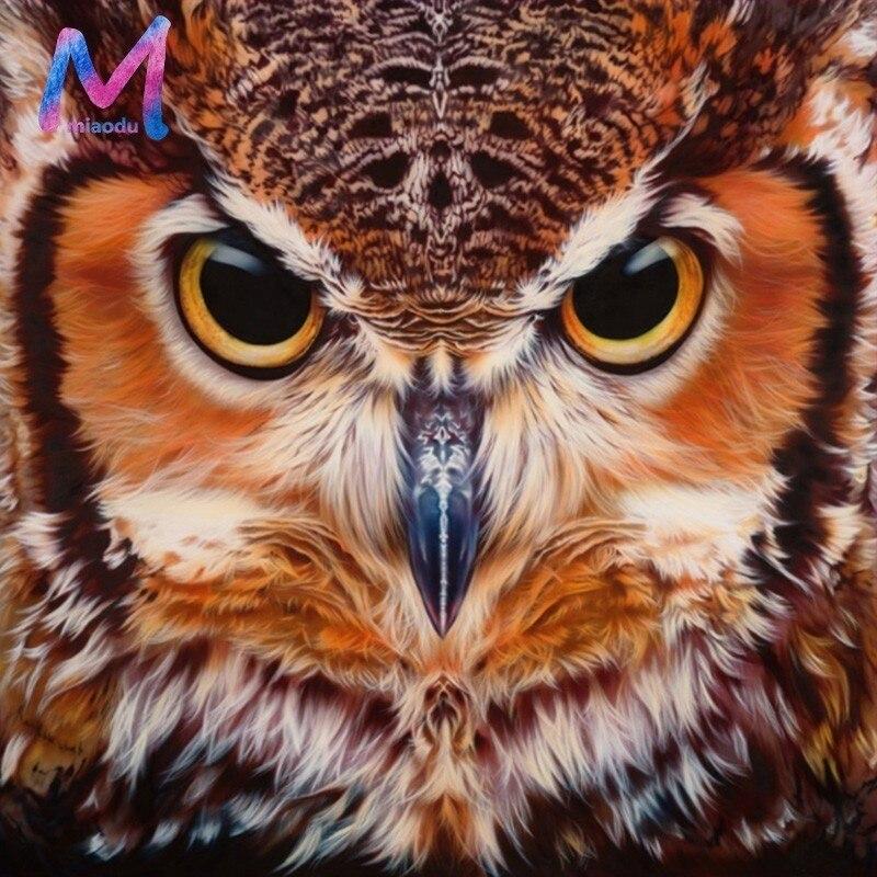 5D DIY Owl Diamond Painting Cross Stitch Animals Patterns Rhinestone Diamond Embroidery Full Square Diamond Mosaic Needlework