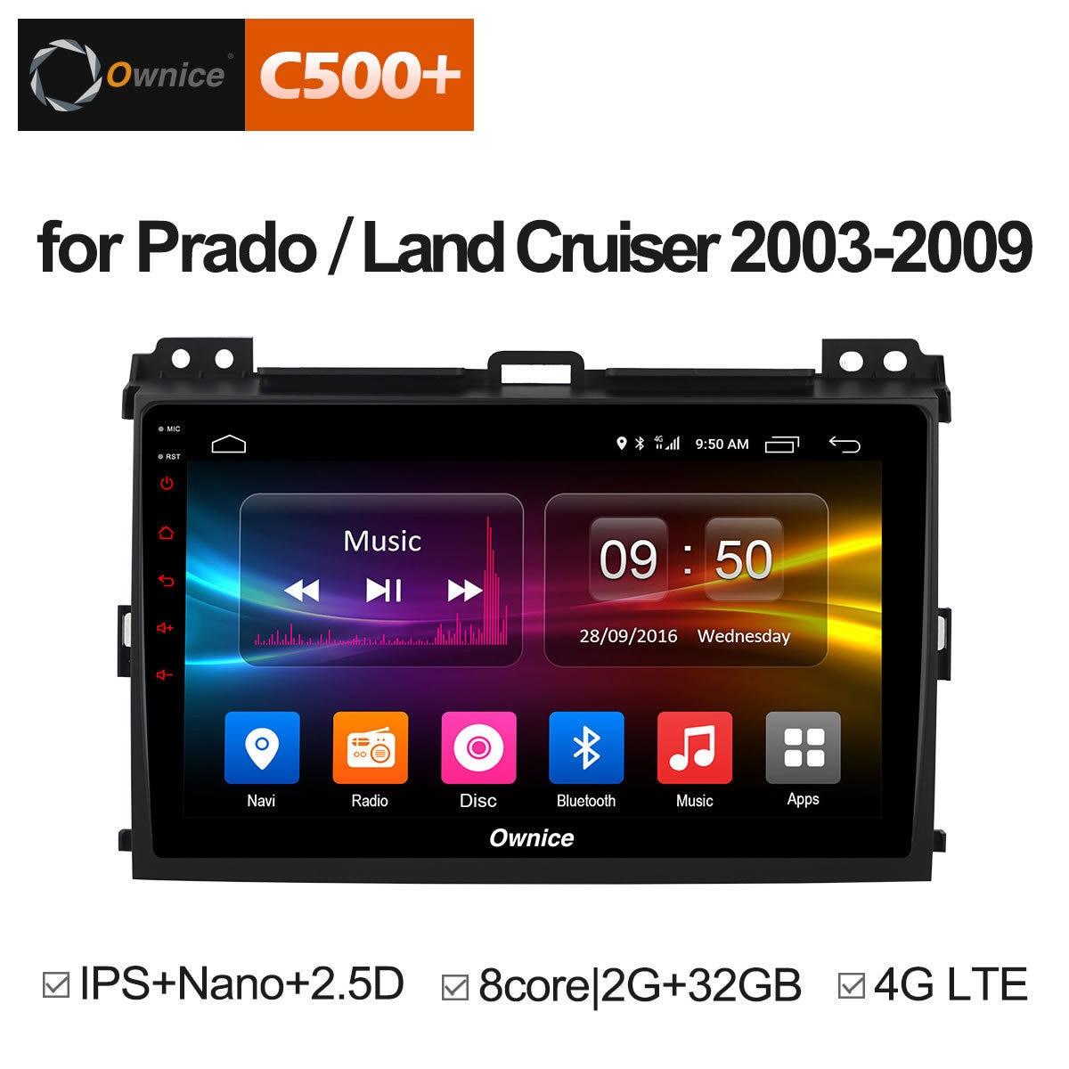Ownice Multimídia Android 8.1 DVD de Navegação GPS Para Prado 2004-2009 Land Cruiser 2003 Estéreo DAB + DVR Car jogar DAB PC