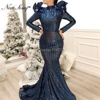 Slim Mermaid Arabic Evening Dresses Long Prom Dress 2019 Dubai Turkish Middle East Women Formal Dress Party Gown Robe De Soiree