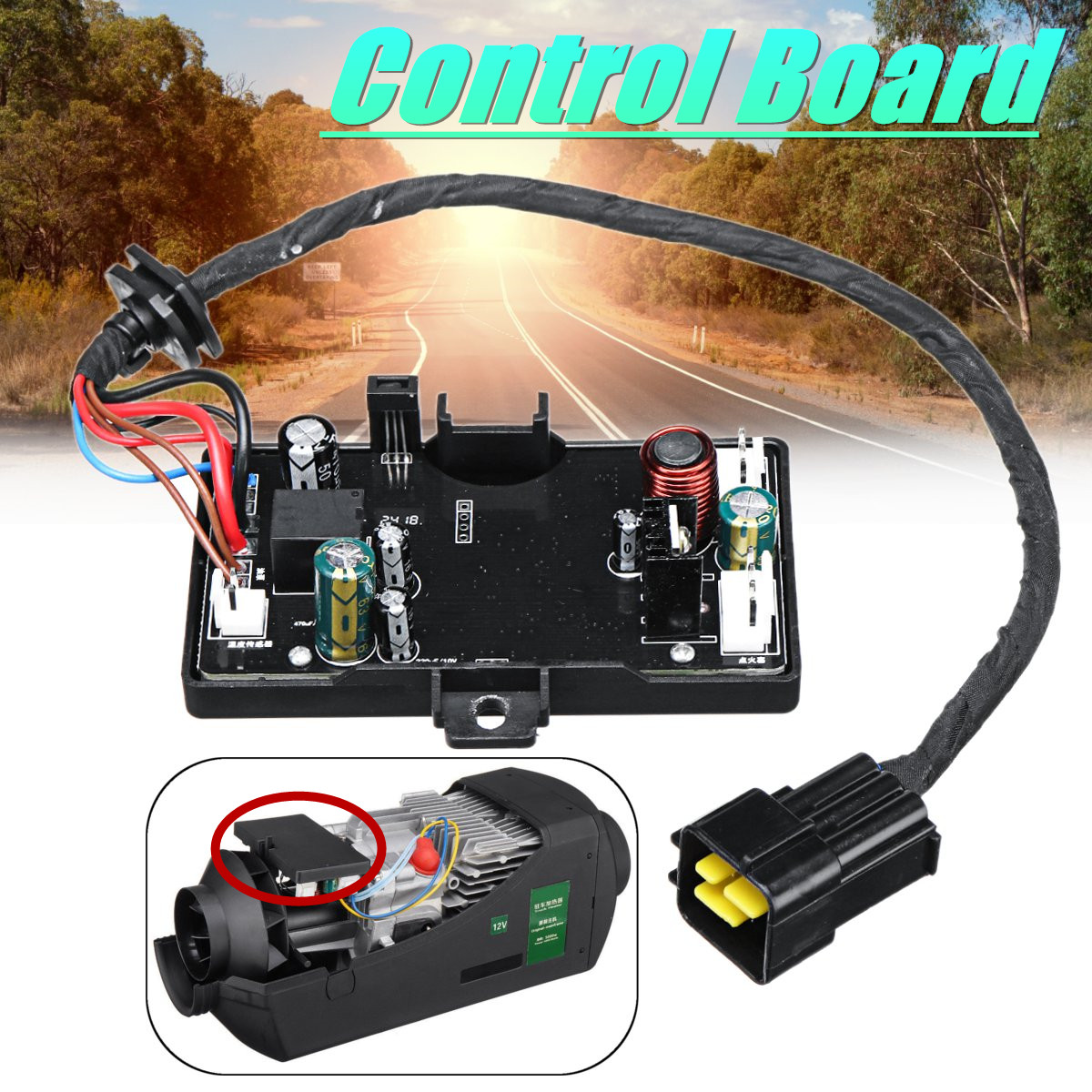 Air Diesel. Heater Control board Diesel. Parking Heater Control board Motherboard  For 12V/24V 3KW/5KW Air HeaterAir Diesel. Heater Control board Diesel. Parking Heater Control board Motherboard  For 12V/24V 3KW/5KW Air Heater
