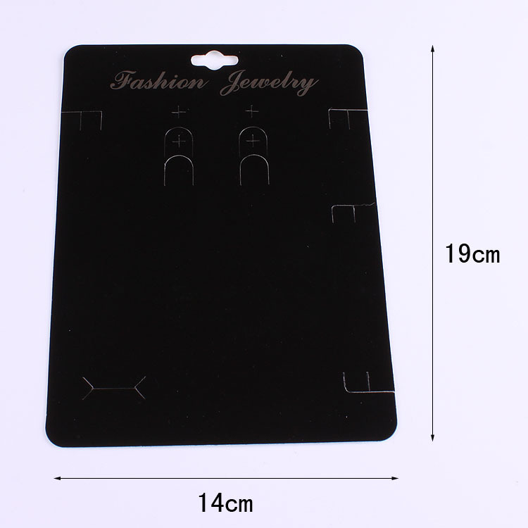 50pcs/lot Kraft Fashion Jewelry Big Card OPP Bag Necklace& Earring 14x19cm Black Paper Hang Tag Jewelry Displays Cards