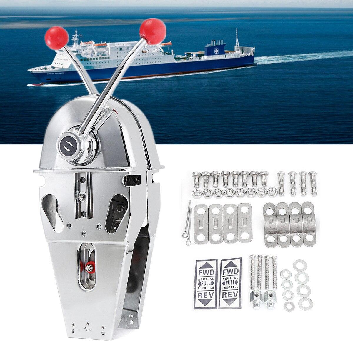 316 acier inoxydable bateau Double Levier Poignée Top Mount Double Moteur de Contrôle Intégré Friction Lisse Chier/Étranglement