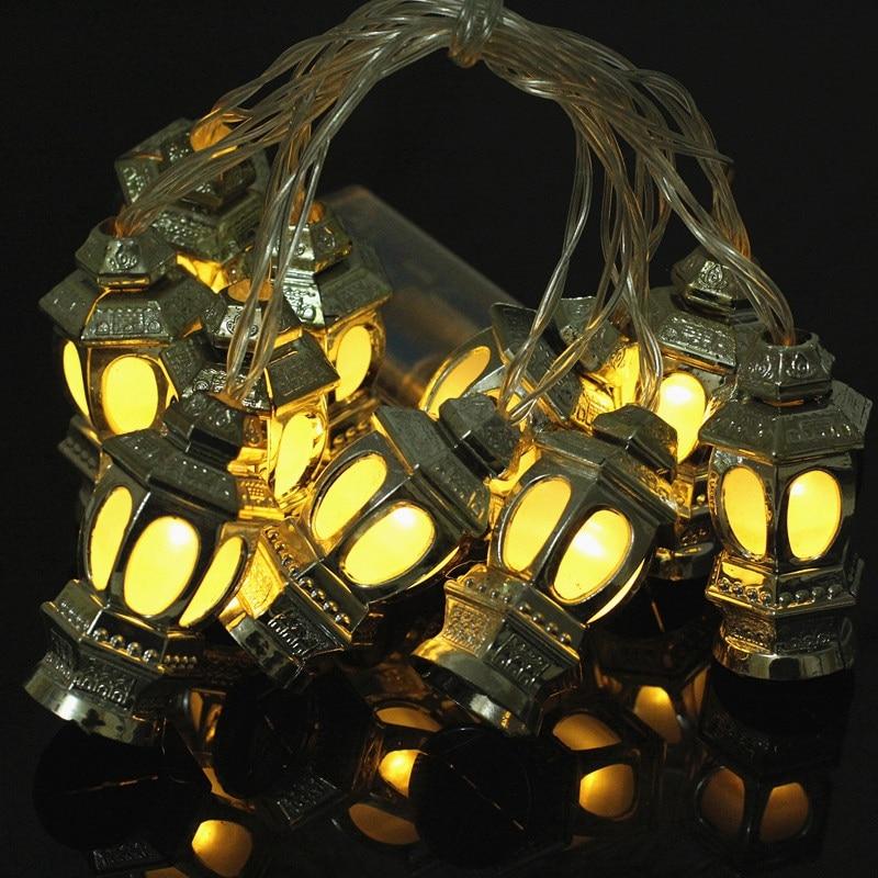 Led String Lights Lanterns Shape Warm Muslim Ramadan Lamps Decoration For Bedroom Festival Party Garden