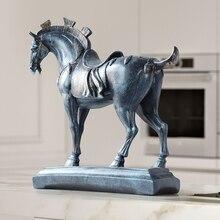 Estátuas de cavalo resina casa decorações acessórios estatuetas para o escritório do hotel sala estar mobiliário criativo estátua presentes cavalo