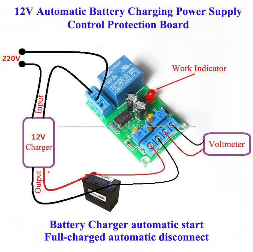 Cnikesin Diy Kits Automatic Protection 12v Battery Lithium Display Calculator Circuit Hesap Makinesi Devresi Charging Controller Module Board Relay