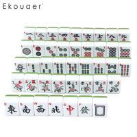Travel Green Mah Jong Mini Set Chinese Game Portable Accessories Mahjong
