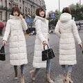 New Autumn Winter Women Plus Size Fashion Down Long Red White Black Hoodie Parkas Warm Jackets Thick Female Coat Christmas