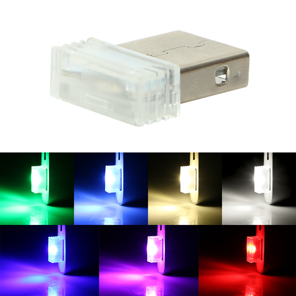 USB Wireless Flexible Neon Ambient LED light For Car Interior Decoration POWER