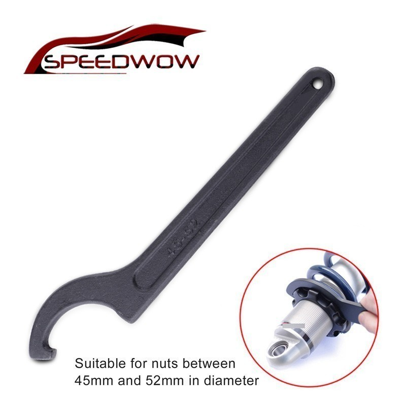 SPEEDWOW 45-52mm Motorcycle Bike Absorber Shock Spanner Pre Load Hook C Set Adjuster Wrench Universal Hand Tool