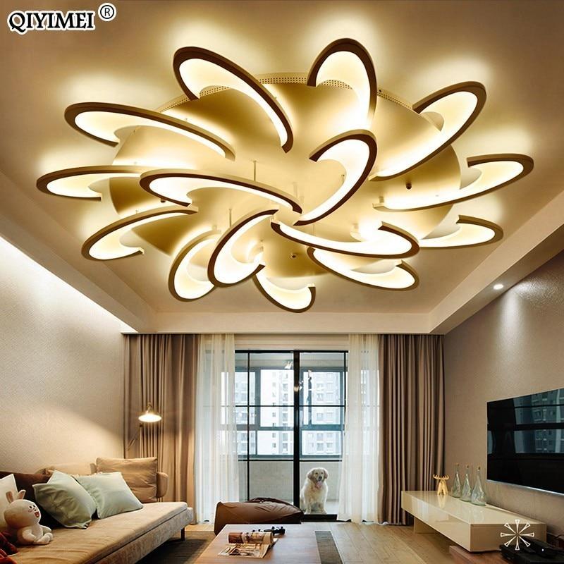 US $69.48 64% OFF|Fernbedienung led decke licht mit Ultra dünne Acryl lampe  decke für wohnzimmer bett zimmer flush mount lamparas de techo in ...