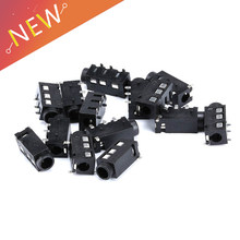 10PCS 3.5mm jack Female Audio Connector 4 Pin DIP Headphone Jack Socket PJ-320A PJ320A Audio Interface Audio Jack Black(China)