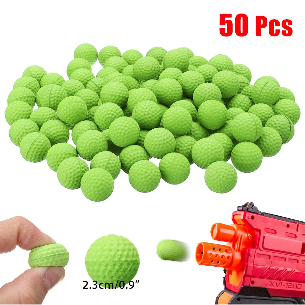 50Pcs Bullet Balls Rounds Compatible For Nerf Rival Apollo Toy Refill Outdoor Fun Sports Children Toy Guns Gift