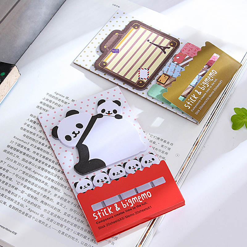 Cute Kawaii Cat Panda Memo Pad Note Vintage Tower Notepads For Kids Gift School Supplies Student 3853 Excellent Quality Memo Pads Notebooks & Writing Pads
