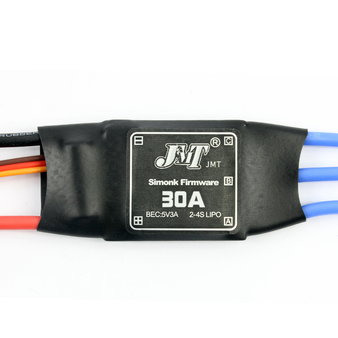 <font><b>JMT</b></font> Simonk Firmware <font><b>30A</b></font> <font><b>ESC</b></font> Electric Speed Controller with 5V 3A BEC for 2 to 4s Lipo Battery F18203/-4/-6 image