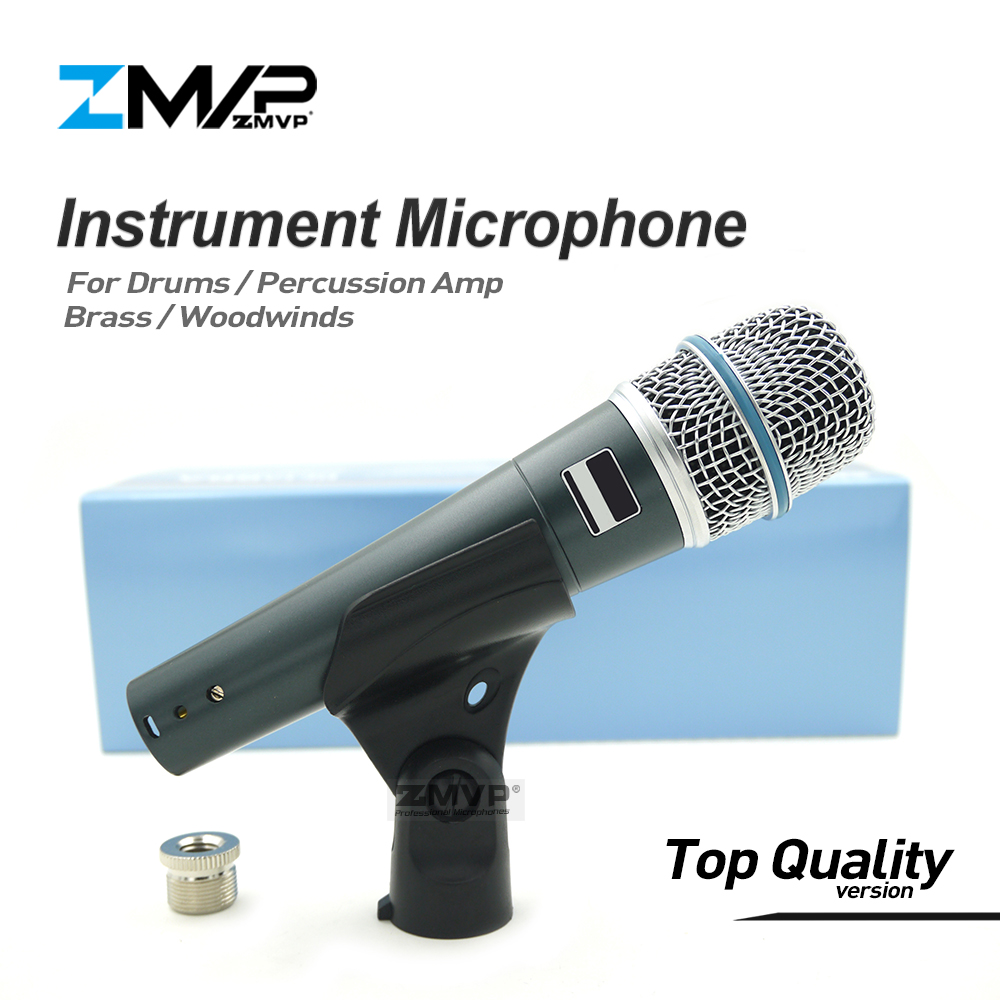 Top Quality Version Super-cardioid Professional Instrument Microphone 57A Drums Percussion Dynamic Wired Microfone Mic