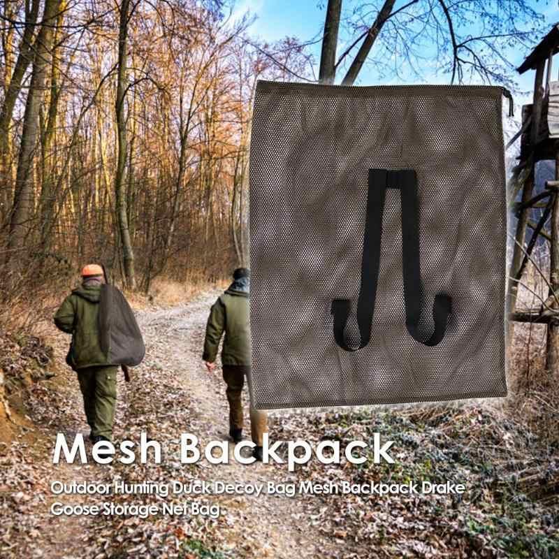 Открытый охотничья утка-приманка мешок сетчатый рюкзак с плечевыми ремнями Drake Гусь сетка для хранения мешок полиэстер сетка армейский зеленый 100x75