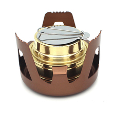Outdoor Camping Hiking Burner Stoves Furnace Copper Alloy Portable Mini Ultra-light Spirit Alcohol Stoves Accesories цена