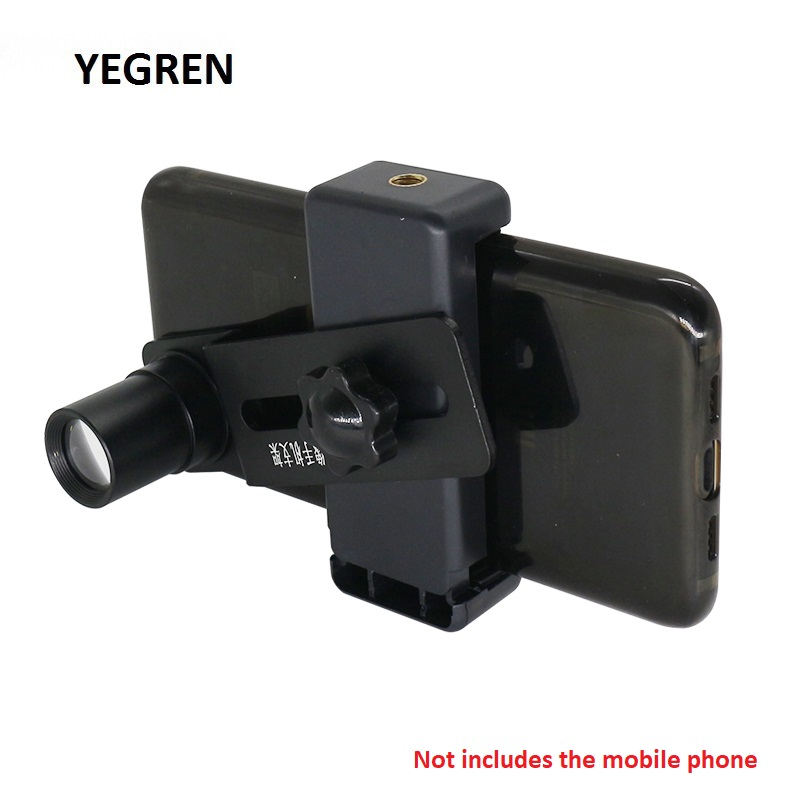 Cell Phone Mount Adapter Phone Clip W/ 12.5X Eyepiece Lens Take F/ Microscope Save Send Photo Video Diameter 23.2mm 30mm 30.5mm
