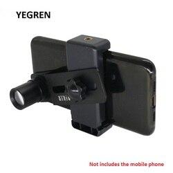 Telefone celular adaptador de montagem clipe de telefone com 12.5x ocular lente tomar f/microscópio salvar enviar foto vídeo diâmetro 23.2mm 30mm 30.5mm