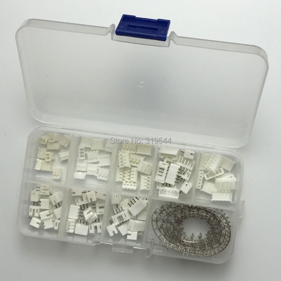 230pcs/LOT PH2.0 2p 3p 4p 5 Pin 2.0mm Pitch Terminal Kit / Housing / Pin Header JST Connector Wire Connectors Adaptor PH Kits