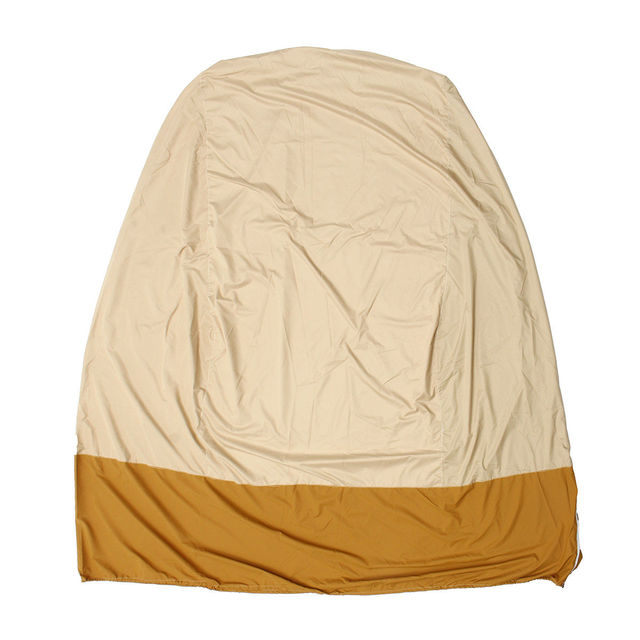 hanging chair cover childrens saucer khaki brown zipper design water resistant outdoor egg swing dust proof protector high