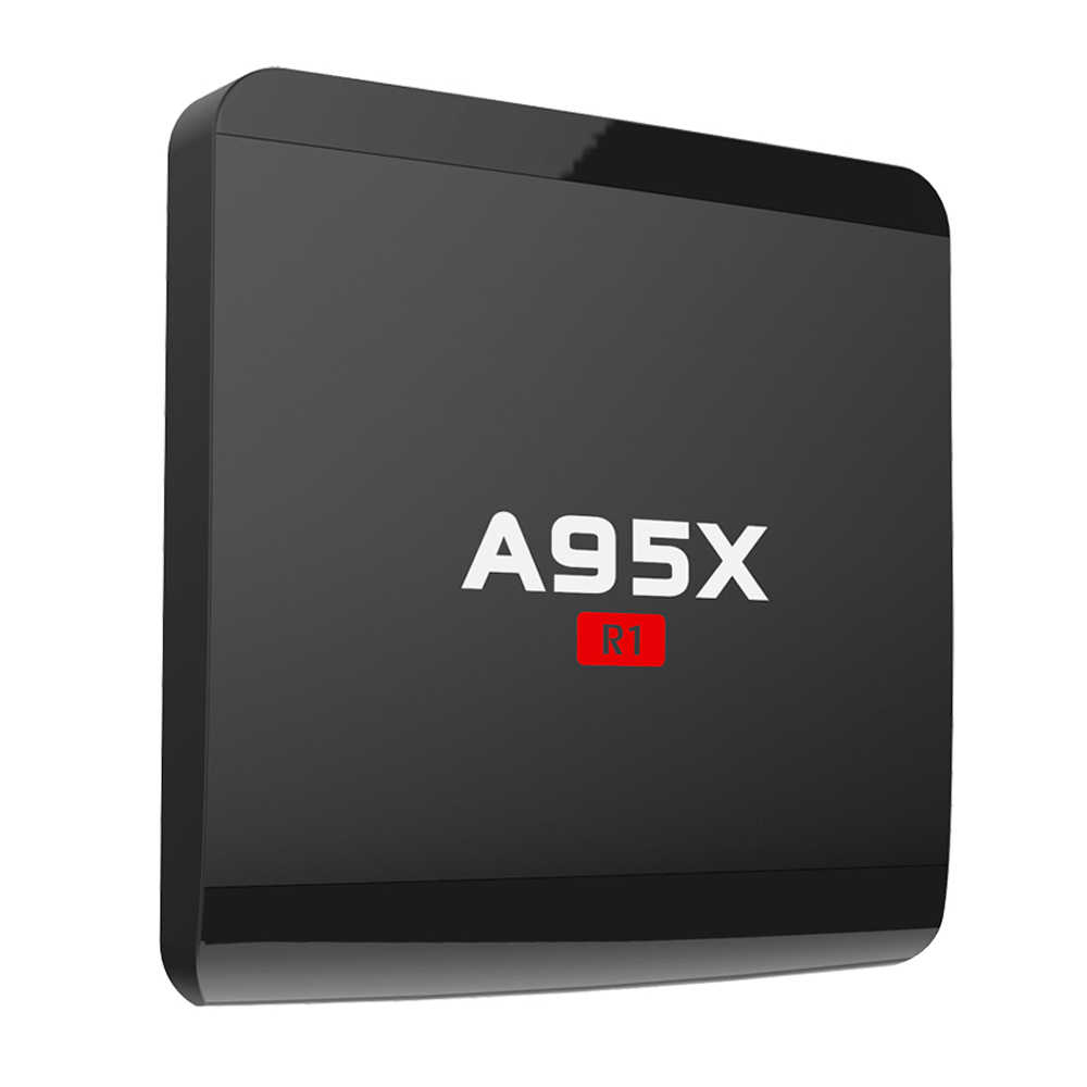 A95X R1 Smart Android 7.1 TV Box Amlogic S905W Quad Core H.265 VP9 Mini PC 2 GB/16 GB DLNA Miracast Airplay WiFi HD décodeur