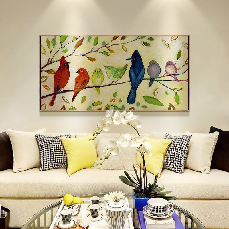 Diamond painting living room flowers and birds animal and plant bedside painting DIY diamond cross stitch living room decoration