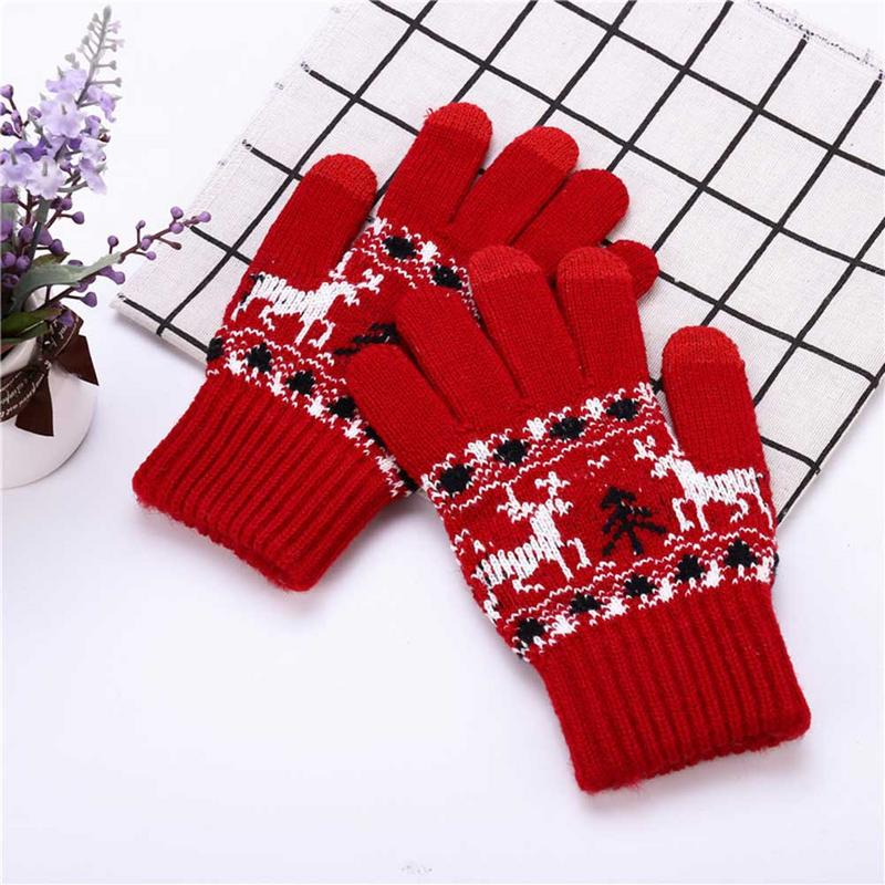 Apparel Accessories Knitted Touch Screen Gloves Men Women Winter Warm Touchable Screen Gloves Snow Knitted Finger Warmer Ski Gloves Christmas Gift