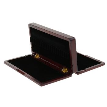 Obój 40 Reed futerał do przechowywania pudełko na części instrumentów dętych drewnianych obój stroiki narzędzia akcesoria muzyczne drewniane pudełko tanie i dobre opinie Tooyful Oboe 40 Reed Storage Case
