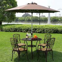 Поміняне 5 шт литая алюминиевая мебель для веранды стул стол, уличная мебель конструкция для дома сад