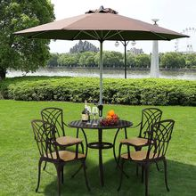 Panana 5 piece Cast Aluminum Patio Furniture Chair Table Out