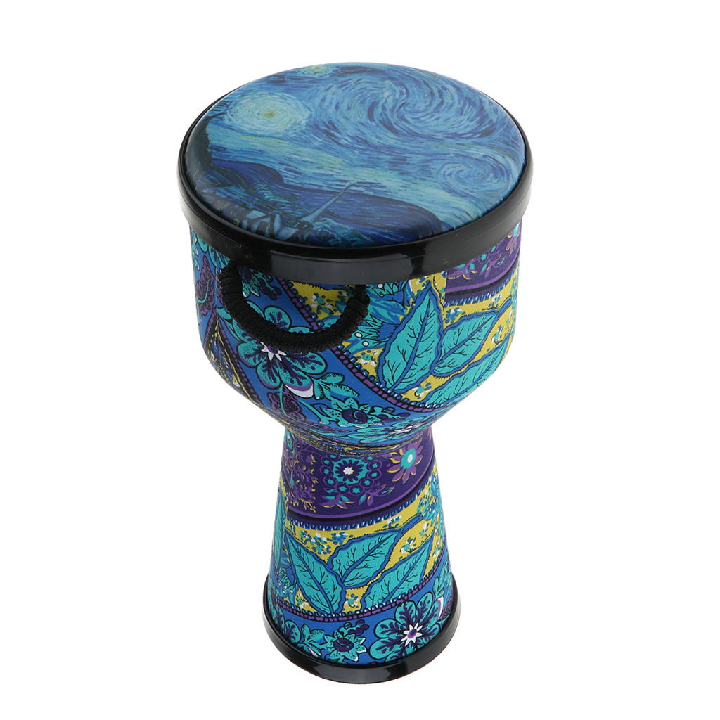 8inch Djembe Bongo African Hand Drum Musical Handheld Percussion Instrument for Kids Adults Gift