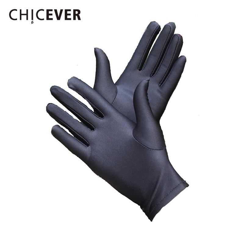 CHICEVER 2020 Fashion Elegant Women Gloves Short Elasticity Black Spring Woman Glove New Casual