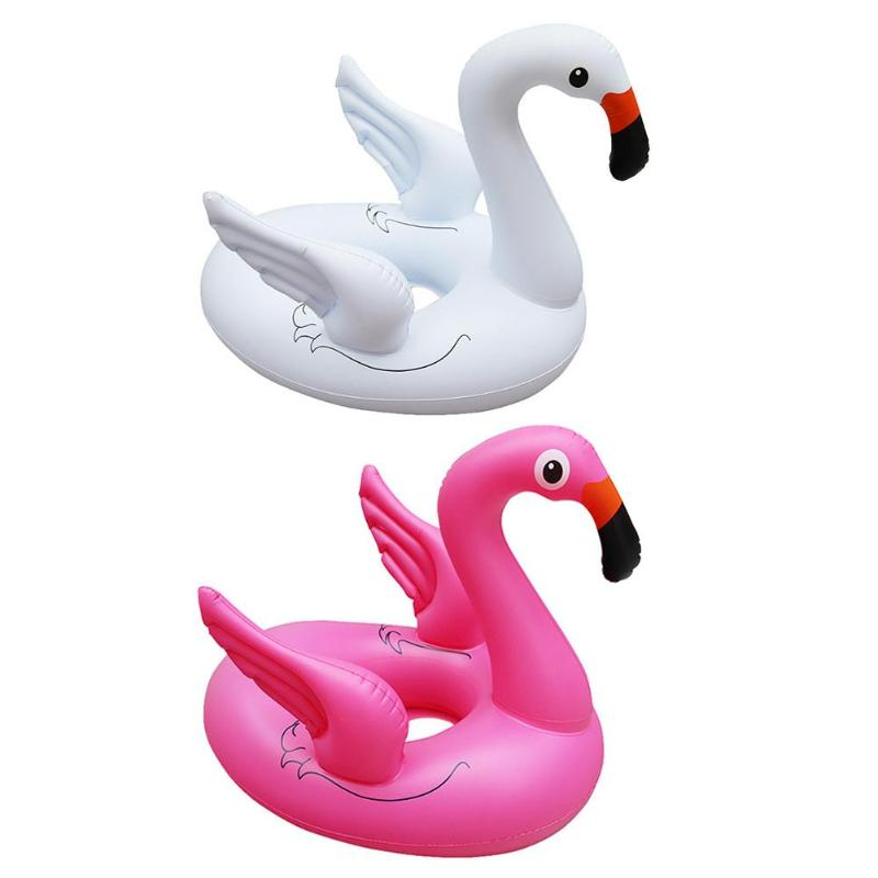 Baby Pool Float Inflatable Swan Swimming Ring Thicken Seat Float Water Toy