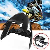 Headlight Fairing & Windscreen Panel Wind Shield Black for Yamaha YBR 125 PC Plastic Motorcycle Wind Deflectors+Lamp Cover