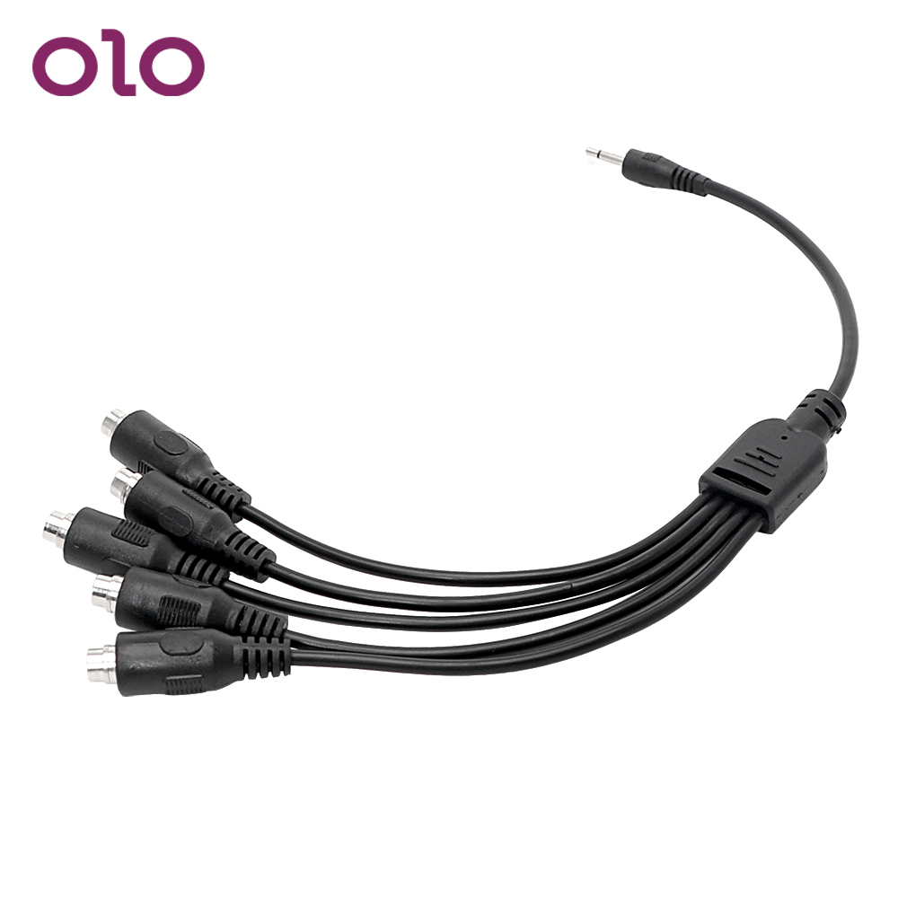 OLO Electric <font><b>Shock</b></font> Accessories 5 in 1 Adapter <font><b>Cable</b></font> <font><b>Electro</b></font> Stimulation for Penis Ring Anal Plug <font><b>Sex</b></font> <font><b>Toys</b></font> for Couple image