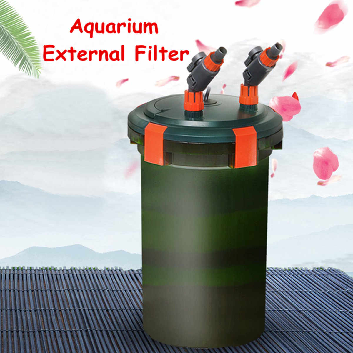 6-25W 450-800L/H Aquarium Fish Tank External Canister Filter with Cotton Media External Mute Fish Tank Filter UV Sterilizer