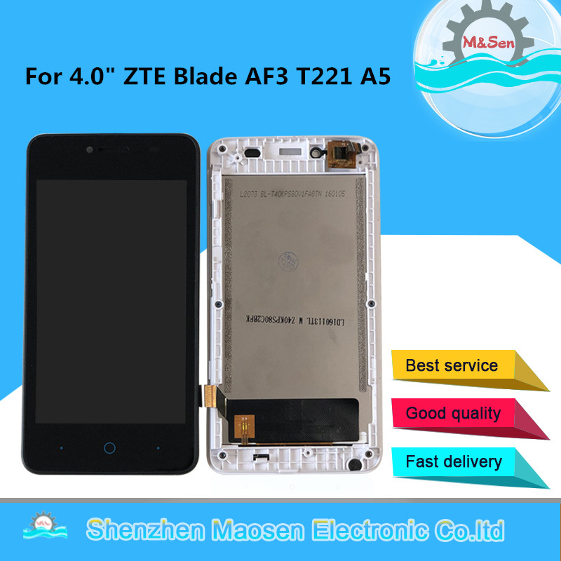 Original Tested M&Sen 4.0 For ZTE Blade AF3 T221 A5 LCD Screen Display+Touch Panel Digitizer With Frame For ZTE AF3 A5 Pro image