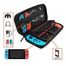Портативная Жесткая Сумка для хранения EVA, двойной межслойный держатель игровой карты, защитный чехол для переноски, чехол для консоли