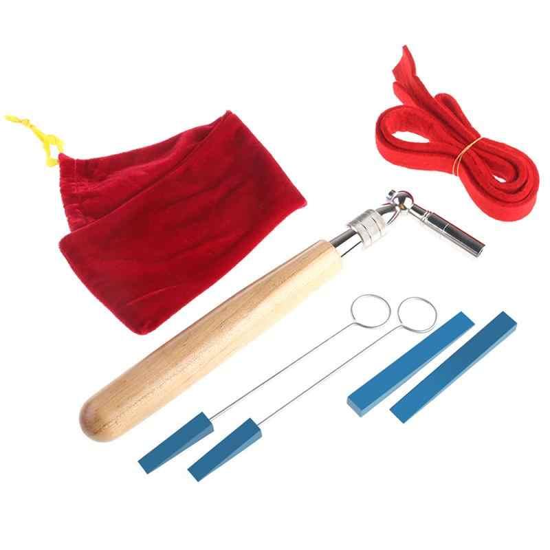6 шт. профессиональный ключ для настройки рояля тюнер гаечный ключ немой комплект с мягкой сумкой для переноски