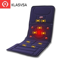 KLASVSA Electric Vibrator Massager Mattress Far Infrared Heating Therapy Neck Back Massage Relaxation Bed Vibrador Health Care