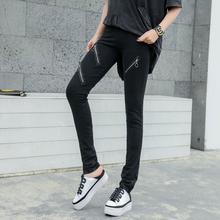 Stretch Vintage cotton Women Leggings Pants 2019 Fashion Bla