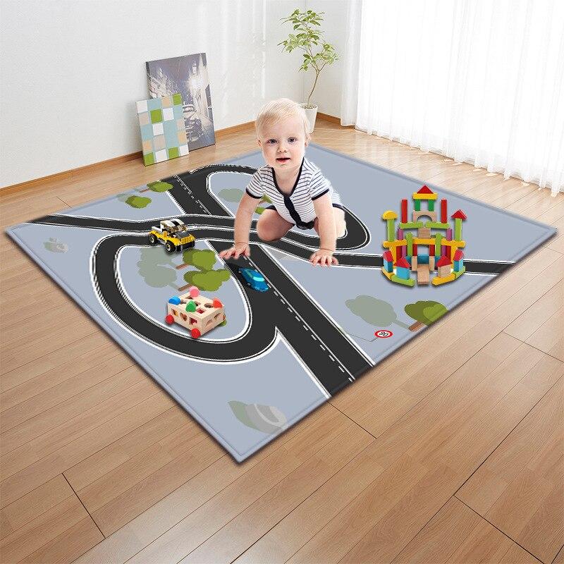 Bébé tapis de jeu jouets pour enfants tapis Portable voiture ville scène trafic autoroute carte développement tapis pliant tapis bébé tapis