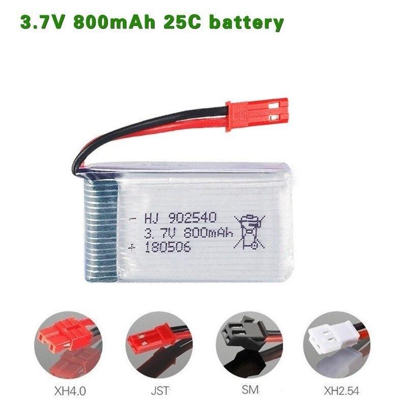 800mAh 3.7V Lipo Battery For X5 X5C X5S X5SC X5HW X5HC X5SW  X25 X300 X400 X500 X800 HJ818 HJ819 HD1315 3.7V 800mAh Battery 1pcs