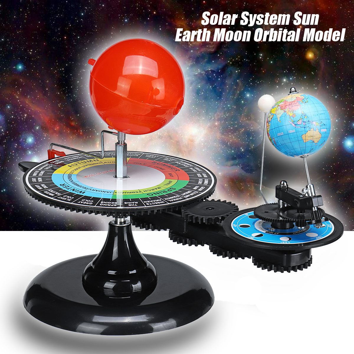 Solar System Globe Earth Sun Moon Orbital Planetarium